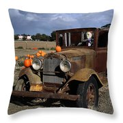 Old Farm Truck Throw Pillow