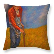 Old Farmer Michel Throw Pillow