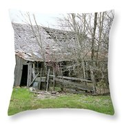 Old Farmhouse Throw Pillow