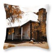 Old Farmhouse Throw Pillow