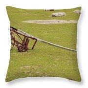 Old Farming Till Throw Pillow