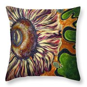 Old Fashion Flower 2 Throw Pillow