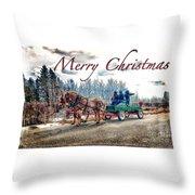 Old Fashion Merry Christmas Throw Pillow