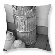 Old Fashion Milk Jug Throw Pillow