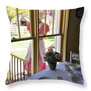 Old Fashioned Bakeshop Throw Pillow