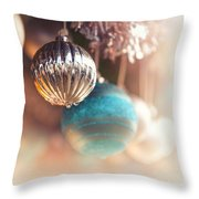 Old-fashioned Christmas Decorations Throw Pillow by Jane Rix