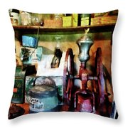 Old-fashioned Coffee Grinder Throw Pillow