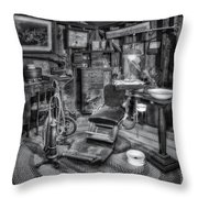 Old Fashioned Dentist Office Bw Throw Pillow