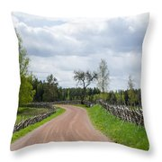 Old Fashioned Gravel Road Throw Pillow