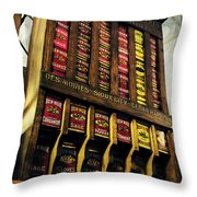 Old Fashioned Herbs And Spices Throw Pillow