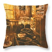 Old Fashioned Kitchen Again Throw Pillow