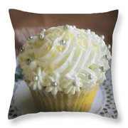 Old Fashioned Lemon Cupcake Throw Pillow