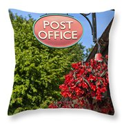 Old Fashioned Post Office Sign Throw Pillow
