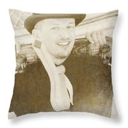 Old-fashioned Sports Throw Pillow