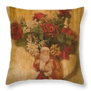 Old Fashioned St Nick Throw Pillow