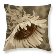 Old Fashioned Sunflower Throw Pillow