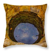 Old Fashioned Well Abstract Throw Pillow