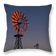 Old Fashioned Wind Mill Throw Pillow
