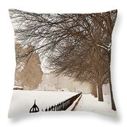 Old Fashioned Winter Throw Pillow