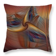 Old-fashionened Swing Boat In The Afterglow Throw Pillow