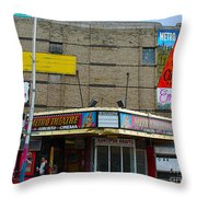 Old Film Theatre In Decay Throw Pillow