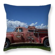 Old Fire Truck Throw Pillow
