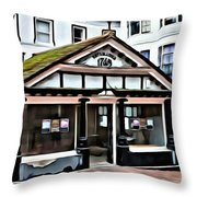 Old Fish Market Throw Pillow