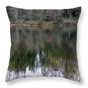 Old Fishing Hole Throw Pillow