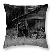Old Fishing Shed Throw Pillow