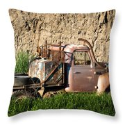 Old Flatbed International Truck Throw Pillow