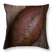 Old Football Throw Pillow