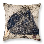 Old Forgotten Wool Cap Lying On The Ground Throw Pillow