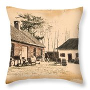Old Fort Langley 1 Throw Pillow