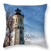 Old Fort Niagara Lighthouse 4478 Throw Pillow