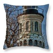 Old Fort Niagara Lighthouse 4484 Throw Pillow