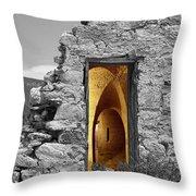 Old Fort Through The Magic Door Throw Pillow