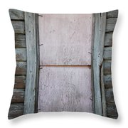 Old Framed Window Throw Pillow