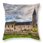 Old French Church Throw Pillow