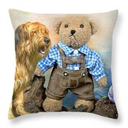 Old Friends On Tour Throw Pillow