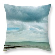 Old Friends Share A Beach Throw Pillow