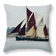 Old Gaffers Off Brightlingsea Throw Pillow