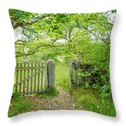 Old Garden Gate Throw Pillow