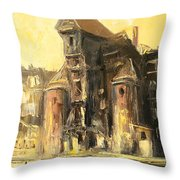 Old Gdansk - The Crane Throw Pillow