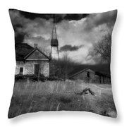 Old Georgia Farm Throw Pillow