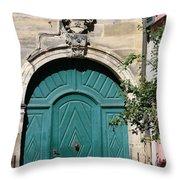 Old German Door  Throw Pillow