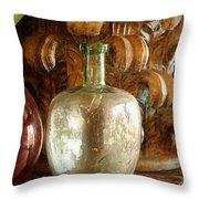 Old Glassware Throw Pillow