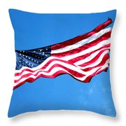 Old Glory - American Flag By Sharon Cummings Throw Pillow