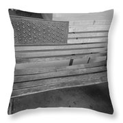 Old Glory Bench In Philadelphia Throw Pillow