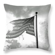 Old Glory Bw Throw Pillow