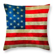 Old Glory Throw Pillow by Dan Sproul